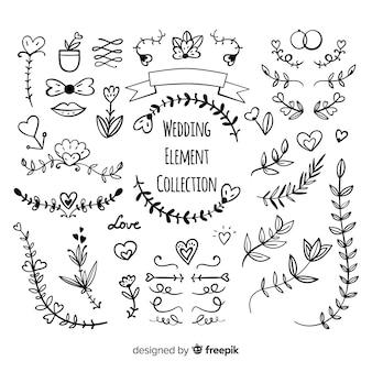 Hand drawn wedding ornament collectio