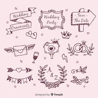Ручной обращается свадебные украшения набор