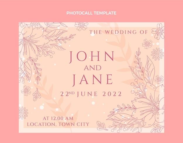 Photocall di matrimonio disegnato a mano