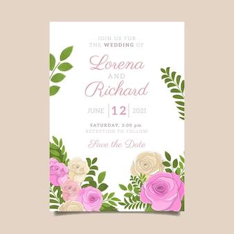 Ручной обращается шаблон свадебного плаката