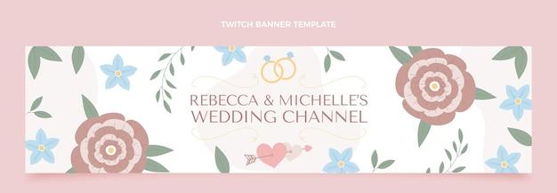 Banner di contrazione del matrimonio disegnato a mano