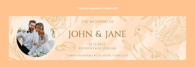 Ручной обращается свадебный баннер twitch