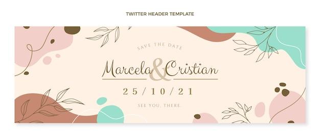 Hand drawn wedding twitter header