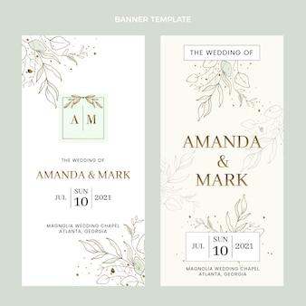 Набор рисованной свадебных вертикальных баннеров