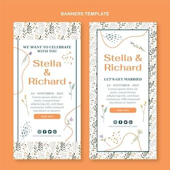 手描きの結婚式の垂直バナー