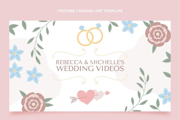 Arte del canale youtube di matrimonio disegnata a mano