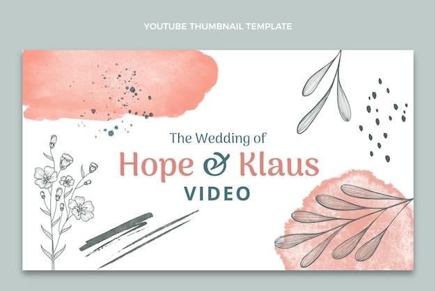 Нарисованная рукой миниатюра свадебного youtube
