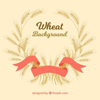 Фон рисованной пшеницы