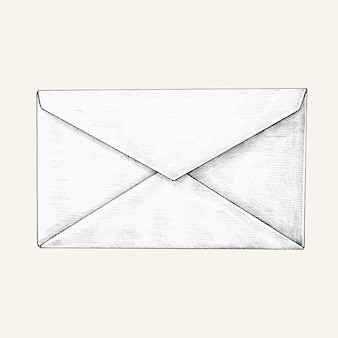 手描きの白い封筒イラスト