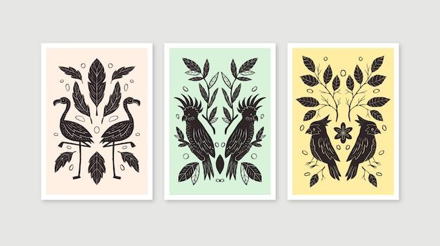 手描きの野生動物カバー