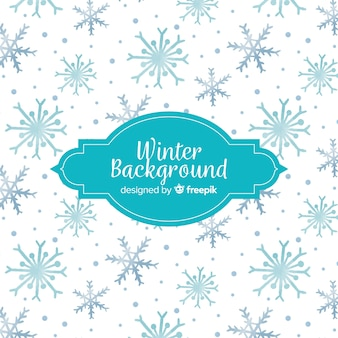 Hand drawn winter background
