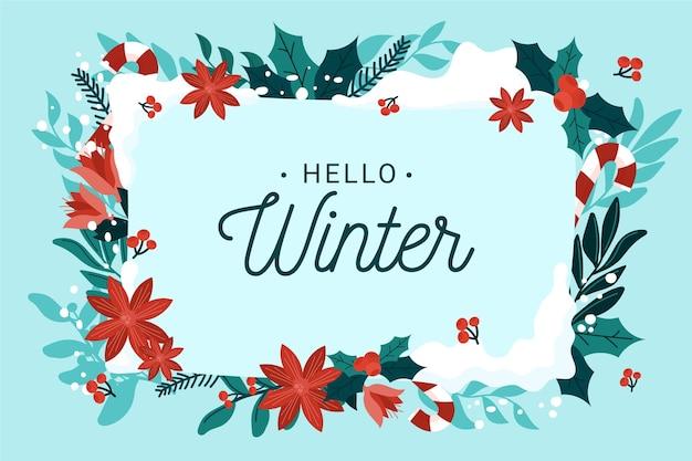 手描きの冬の背景