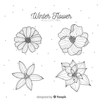Коллекция зимних цветов ручной работы