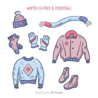 Vestito invernale disegnato a mano