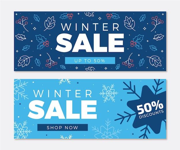 Ручной обращается зимняя распродажа баннеров