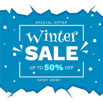 Hand drawn winter sale discount