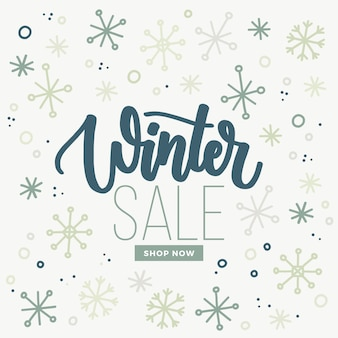 Hand drawn winter sale