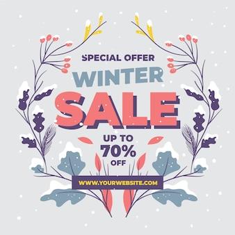 Hand drawn winter sale