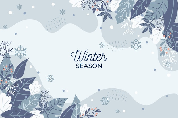 Hand drawn winter season background
