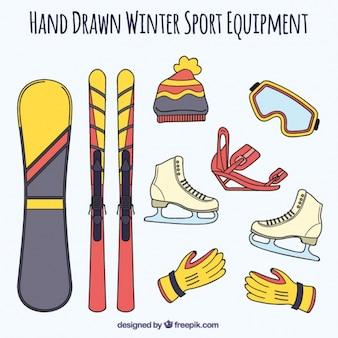 Рисованной зимних видов спорта аксессуары