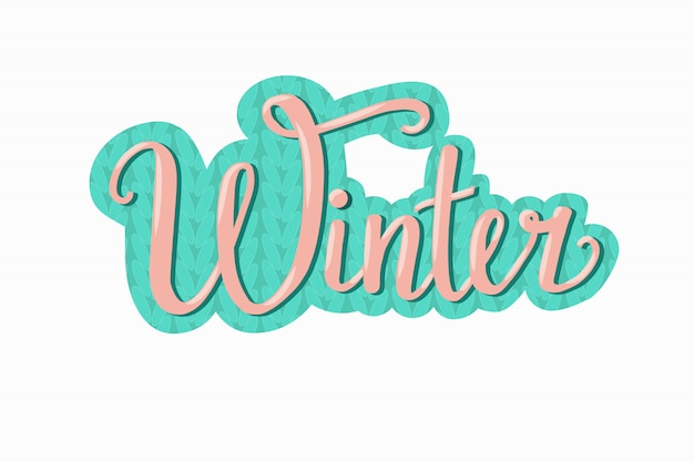 Hand drawn winter vector illustration, sticker