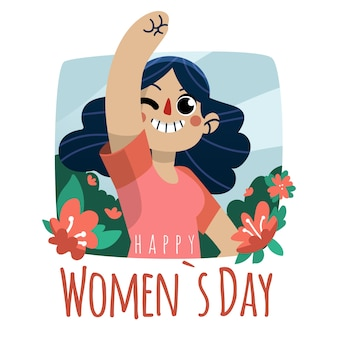 Hand drawn women's day illustration