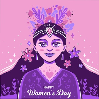 Hand drawn women's day