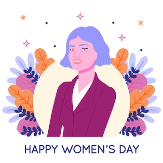 Hand drawn women's day