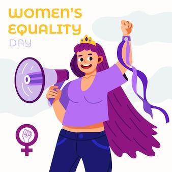 手描きの女性平等の日イラスト
