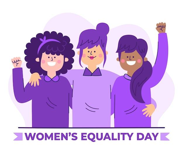 Illustrazione disegnata a mano del giorno dell'uguaglianza delle donne Vettore gratuito