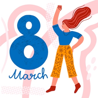Hand-drawn womens day concept