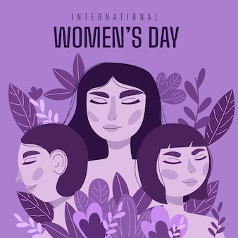 Hand-drawn womens day design