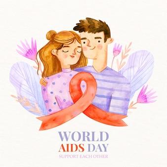 손으로 그린 세계 에이즈의 날
