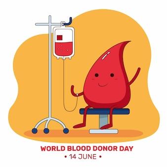 손으로 그린 세계 헌혈자의 날 그림