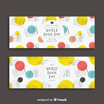 Hand drawn world book day banner