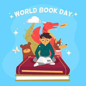 Hand-drawn world book day event