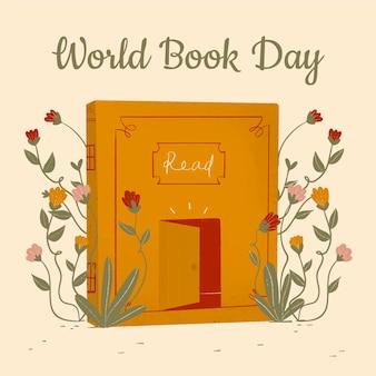 손으로 그린 세계 책의 날 그림