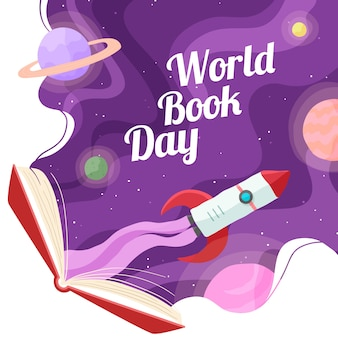 Hand drawn world book day