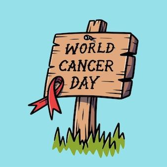 Hand drawn world cancer day