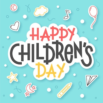 Hand drawn world children's day message