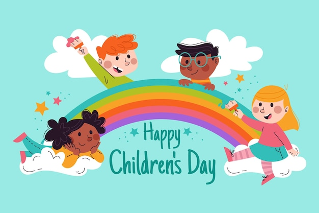 Hand drawn world children's day