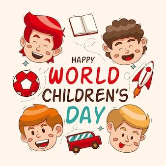 Hand drawn world childrens day