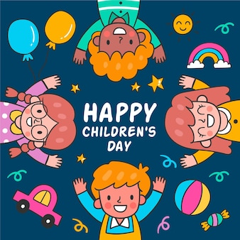 Hand drawn world childrens day