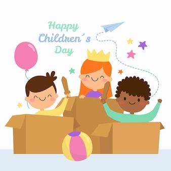Giornata mondiale dei bambini disegnati a mano