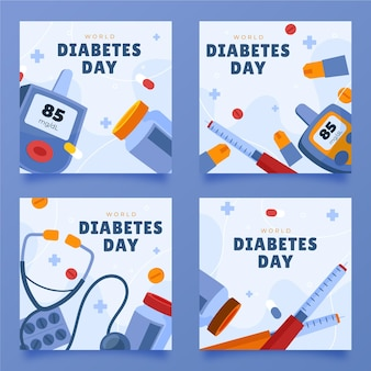 手描きの世界糖尿病デーのinstagramの投稿コレクション
