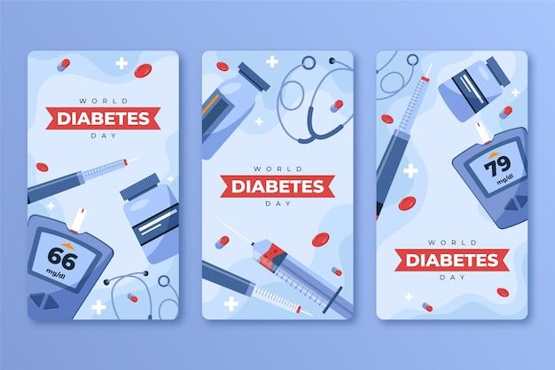 Коллекция историй instagram всемирного дня диабета