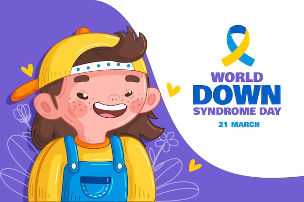 Hand drawn world down syndrome day