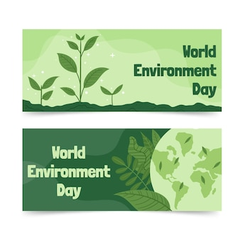 Hand drawn world environment day banner template