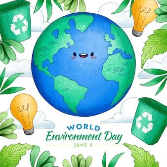 手描きの世界環境の日のイラスト