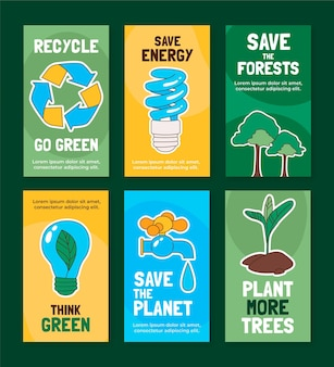 손으로 그린 세계 환경의 날 instagram 이야기 모음